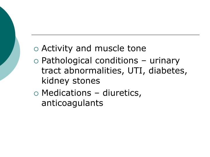 Activity and muscle tone