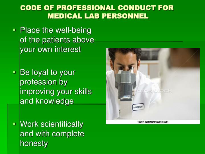 CODE OF PROFESSIONAL CONDUCT FOR