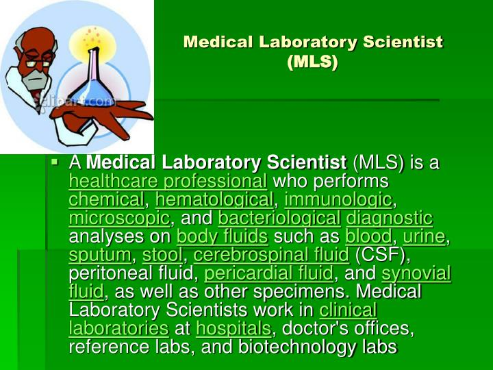 Medical Laboratory Scientist