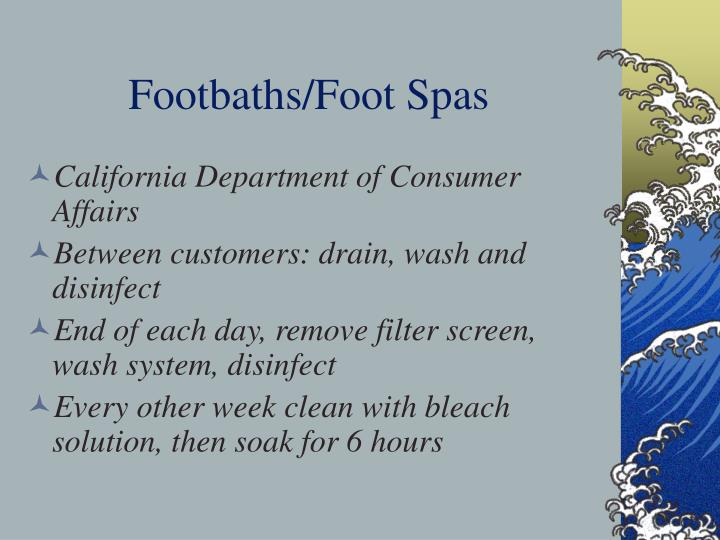 Footbaths/Foot Spas