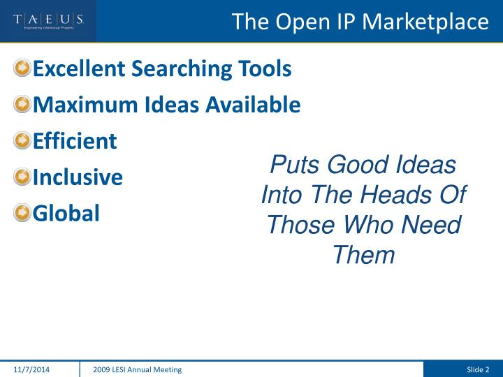 The open ip marketplace