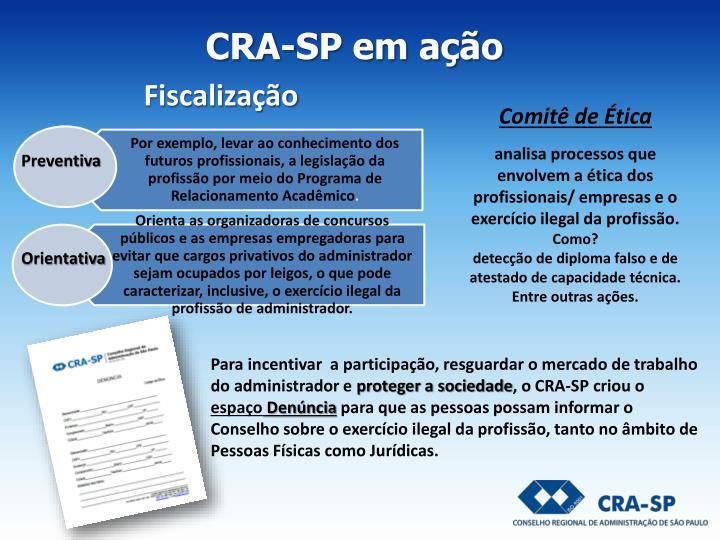 CRA-SP em ação