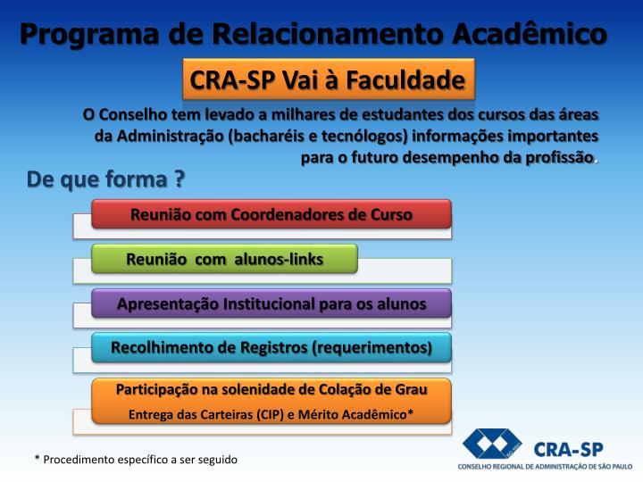 Programa de Relacionamento Acadêmico