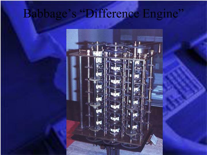 "Babbage's ""Difference Engine"""