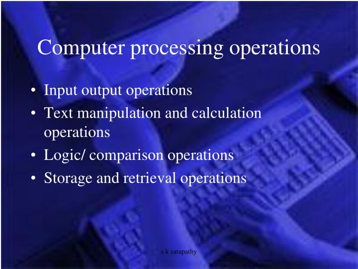 Computer processing operations