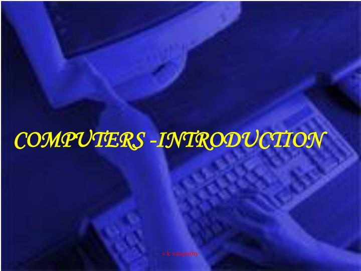 Computers introduction
