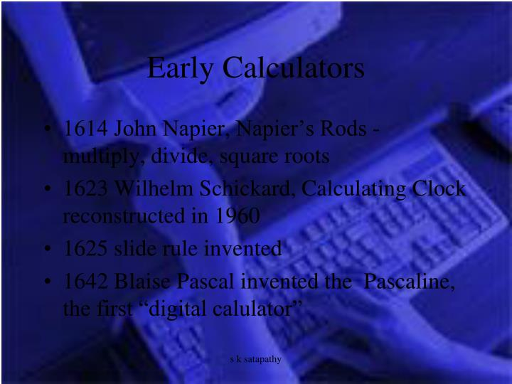 Early Calculators