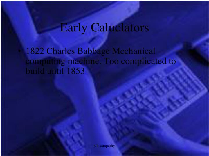 Early Caluclators