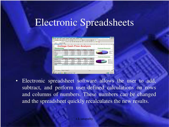Electronic Spreadsheets