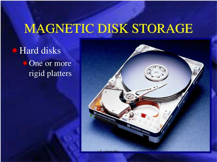 MAGNETIC DISK STORAGE