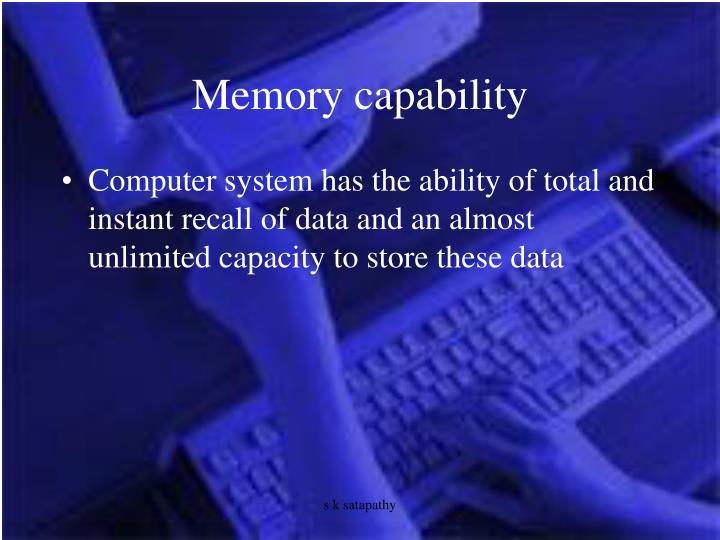 Memory capability