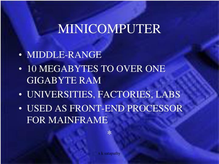 MINICOMPUTER