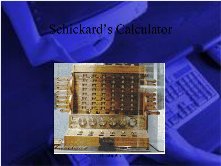 Schickard's Calculator