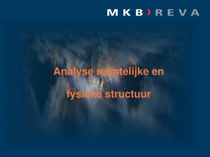 Analyse ruimtelijke en