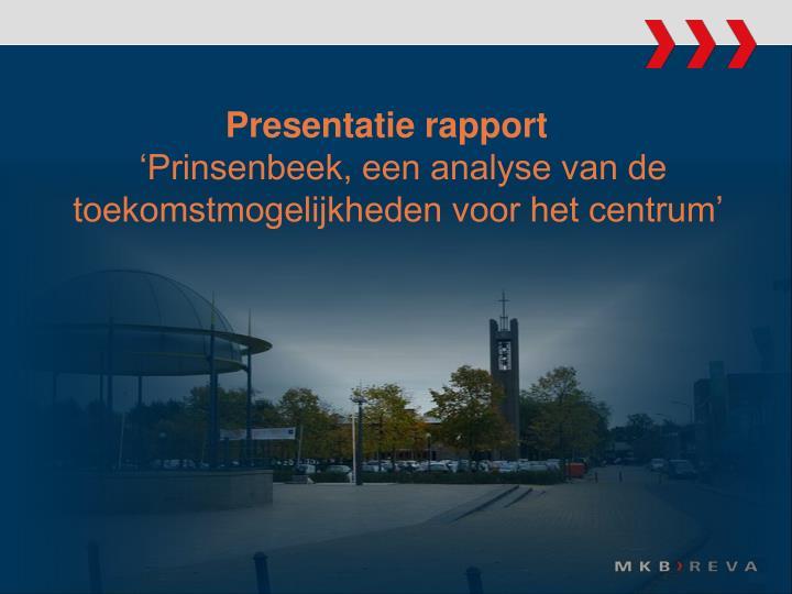 Presentatie rapport