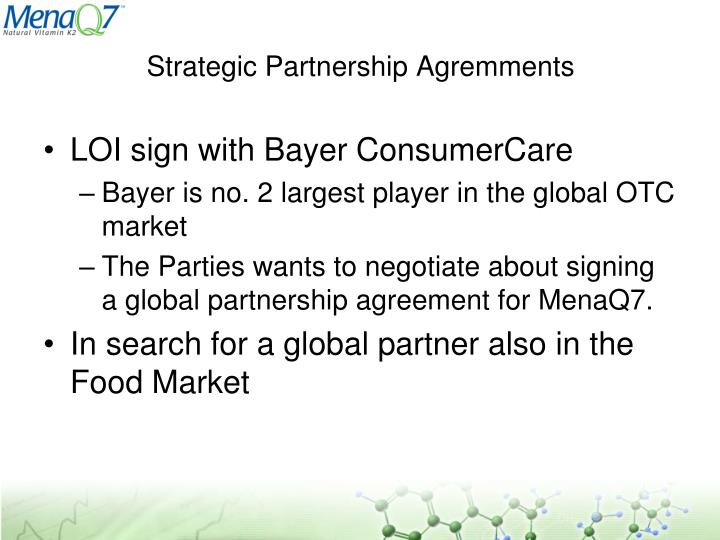 Strategic Partnership Agremments