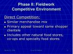 phase ii fieldwork competitive environment