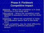 phase ii fieldwork competitive impact