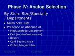 phase iv analog selection1