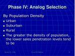 phase iv analog selection2