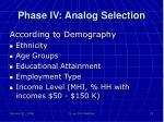 phase iv analog selection3