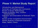 phase v market study report