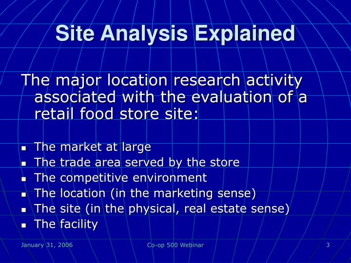 Site analysis explained