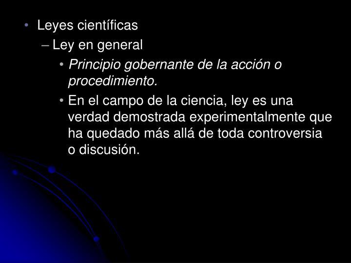 Leyes científicas