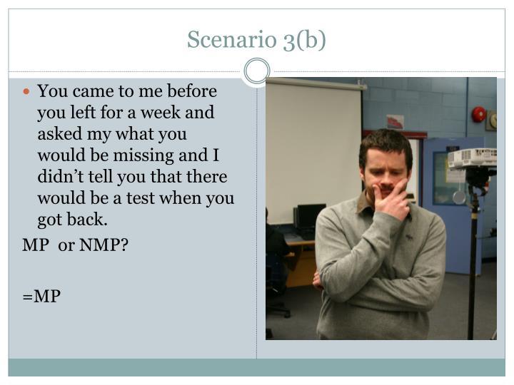 Scenario 3(b)