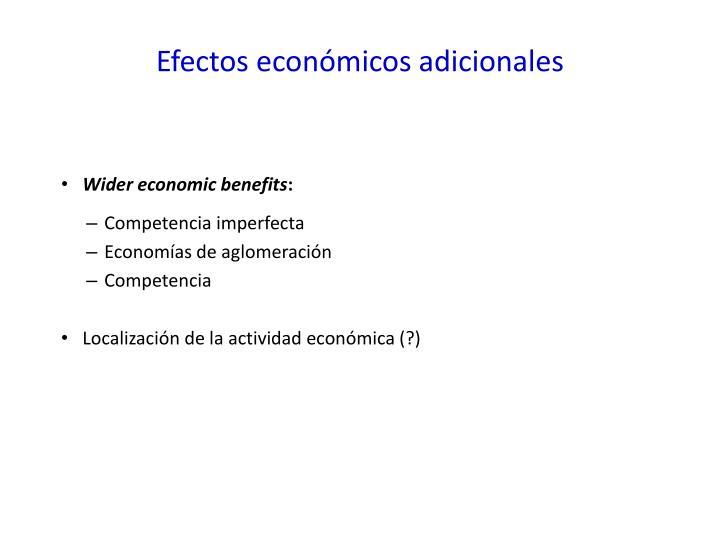 Efectos económicos adicionales