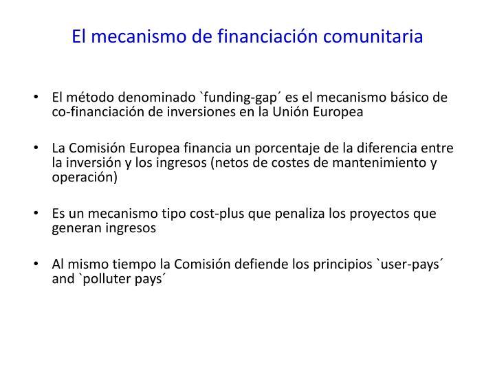 El mecanismo de financiación comunitaria