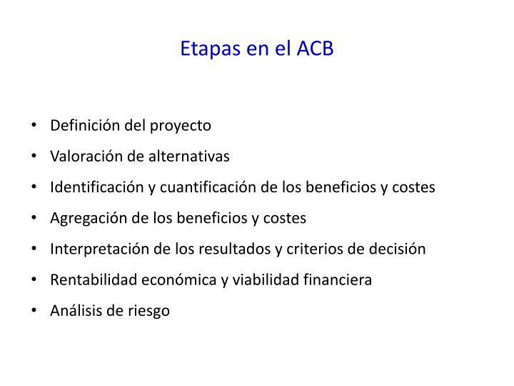 Etapas en el ACB