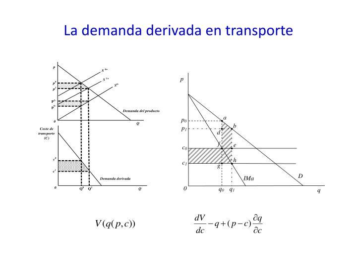 La demanda derivada en transporte
