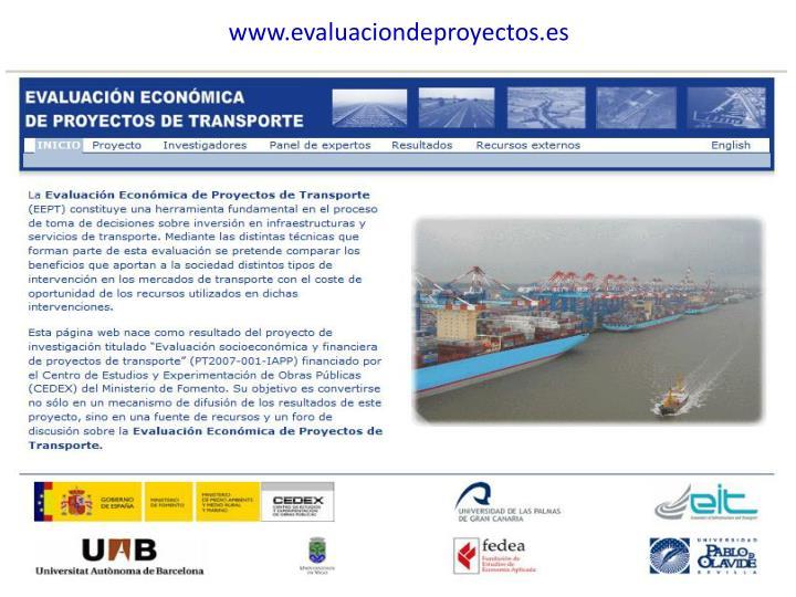 www.evaluaciondeproyectos.es