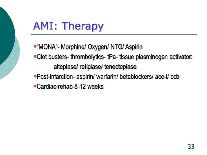 AMI: Therapy
