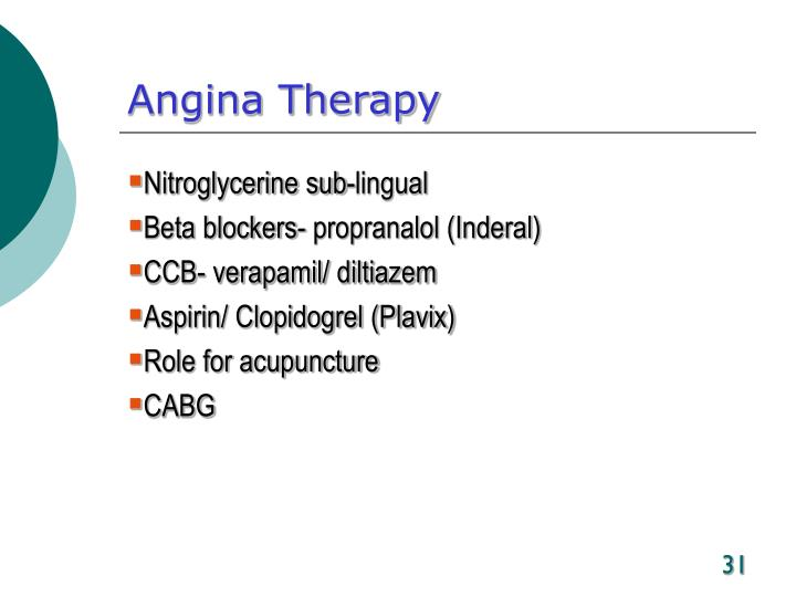 Angina Therapy
