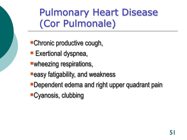 Pulmonary Heart Disease
