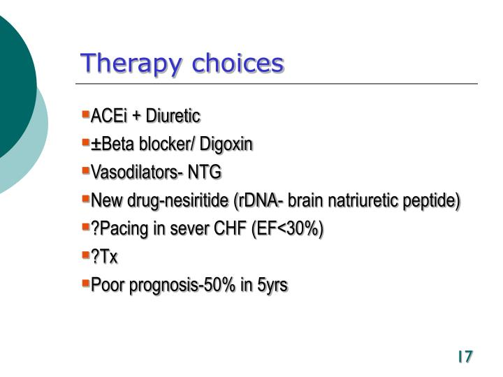 Therapy choices