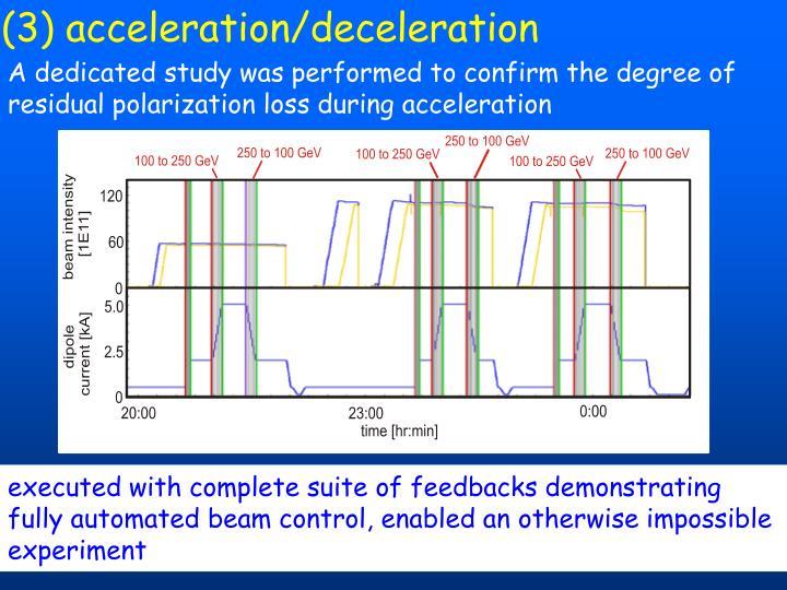 (3) acceleration/deceleration