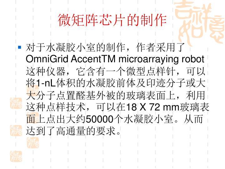 微矩阵芯片的制作