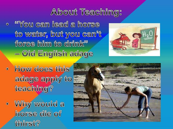 About teaching