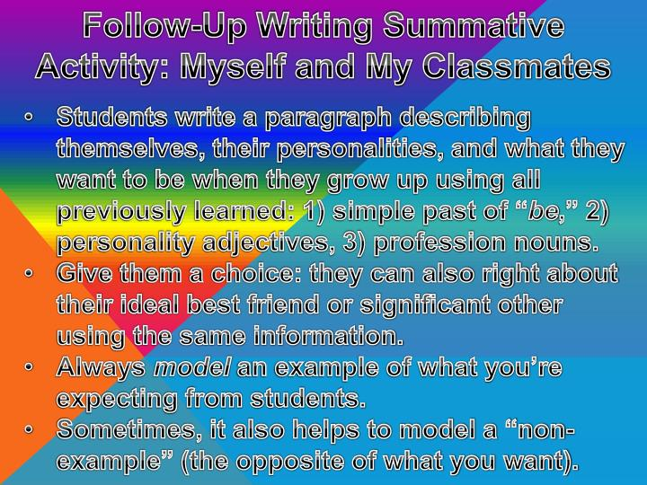 Follow-Up Writing Summative