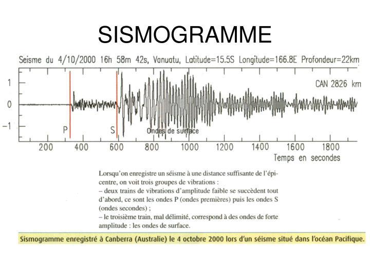 SISMOGRAMME