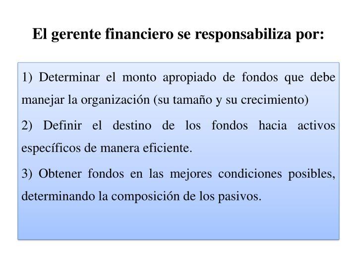 El gerente financiero se responsabiliza