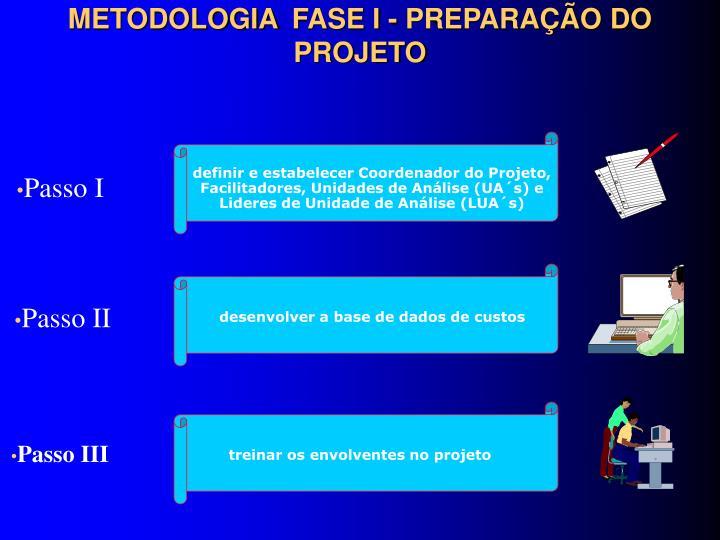 METODOLOGIA FASE I - PREPARAÇÃO DO PROJETO