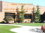 baker college goals