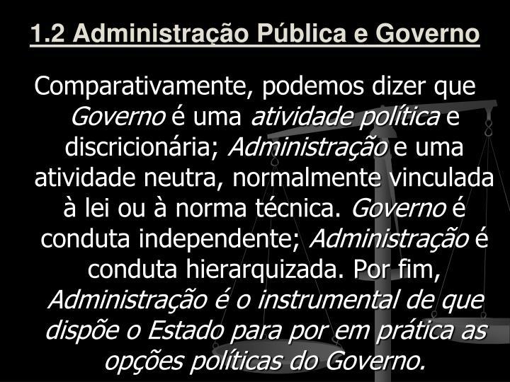 1.2 Administração Pública e Governo