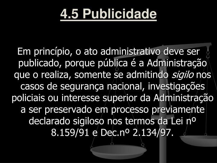 4.5 Publicidade