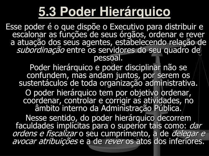5.3 Poder Hierárquico