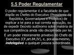 5 5 poder regulamentar